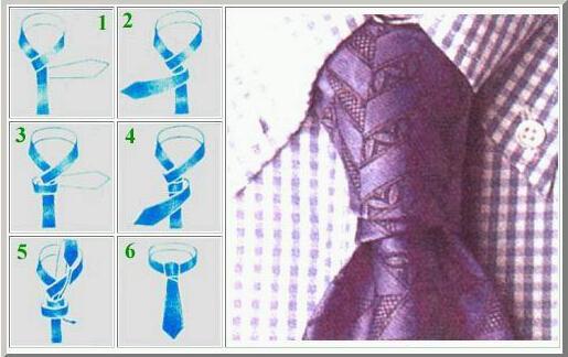 领带打法图解