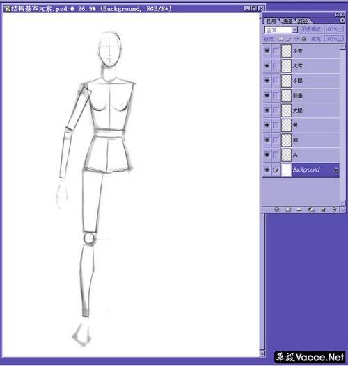 时装画绘画技法-理解结构和动态