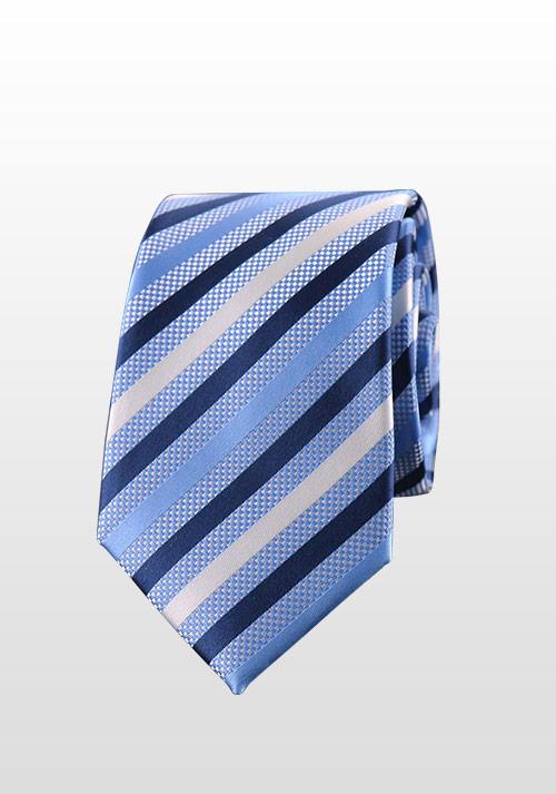 蓝灰条纹领带