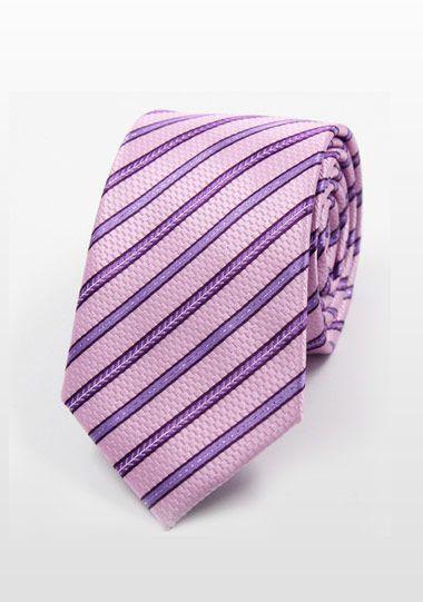 粉色条纹领带