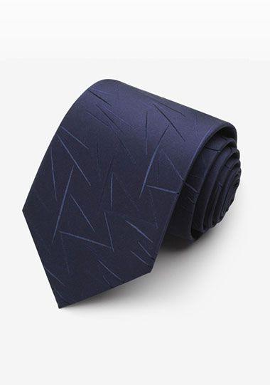 藏蓝不规则花纹领带