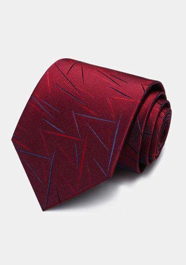 红色不规则花纹领带